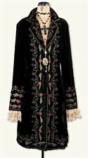 Victorian Trading Co Renaissance Velvet Embroidery Floral Coat Dress SM