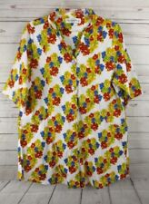 Guy Laroche Shirt Dress Size 44 A Line Multi Color Floral 3/4 Sleeve Signature