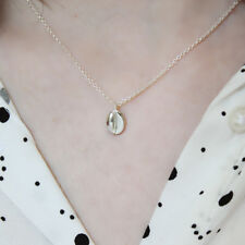 Sterling Silver Coffee Bean Necklace Pendant Love Coffee Lover Jewellery Nugget