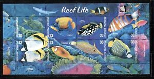 MARSHALL ISLANDS 2000, REEF LIFE: FISH, TURTLE, Scott 751 SHEET OF 8, MNH