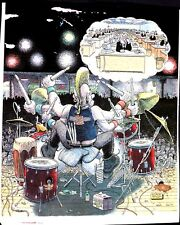DRUMMERS DREAM - PROOF PARIS 1989 -  GILBERT SHELTON ORIGINAL SCARCE