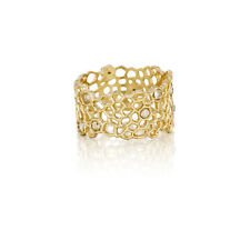 Chloe and Isabel Golden Honeycomb Ring  - R044G  Size 8 - NEW