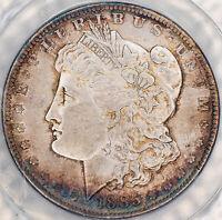 "1885-O MORGAN SILVER DOLLAR ANACS MS62 ""BELLY BUTTON""  VAM-1 BU UNC TONED (MR)"
