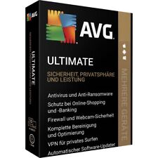 AVG Ultimate 2021 inkl. VPN, 1 bis 10 Geräte, 1-2 Jahre, Multi Device, NEU