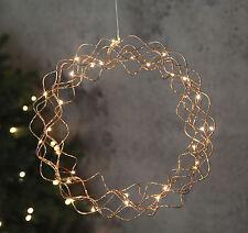Moderne LED Couronne bouclé décorative décor de fenêtre cuivre avec 30 30 cm