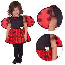 New Baby Girls Lady Bug Ladybird Carnival Fancy Dress Costume Book Week + Wings