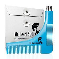 Molde De Barba Para Afeitado - Plantilla Para Recortar Barba Con Peine Integrado