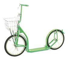 "12"" CHILDRENS SCOOTER - NEON GREEN - Child Kick Foot Bike w/ Basket & Brake USA"