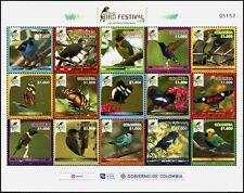 Kolumbien Colombia 2018 Vögel Schmetterlinge Bird Festival Kleinbogen MNH