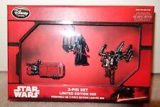 Disney Star Wars The Force Awakens Limited Pin Set Kylo Ren Rey Dameron LE 800