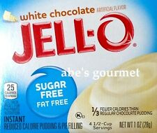 JELL-O Sugar Free Pudding & Pie Filling: White Chocolate (6 Pack) 1 oz Boxes