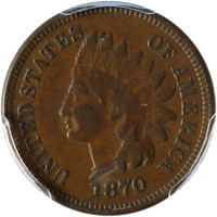 1870 Indian Cent PCGS VF30 Great Eye Appeal Nice Strike