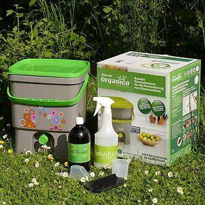Bokashi Eimer Haushaltseimer Organico 16 Liter, SET mit EM u. Sprühflasche