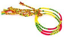 Lot 3 Bracelets Brésiliens de l'Amitié Macramé coton jaune rouge vert rasta