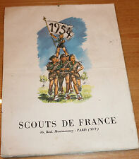 ancien calendrier scouts de France  1954 (joubert )