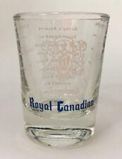 Vintage Barclay's Royal Canadian Double Shot Glass Souvenir Barware