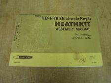 Heathkit HD-1410 original manual, checkboxes ticked, cover rough