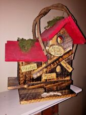 Birdhouse Craw Dads Beach Barn Wood Handmade Grape Vine Boat Bait Shop 18Tx13W