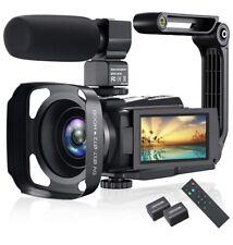 4K Video Camera Camcorder, Vlogging 48MP 60FPS YouTube WiFi...