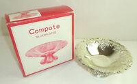 Vintage Pedestal Compote Silverplated Bon Bon Serving Dish Bowl Leonard w/ Box