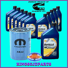 Oil Filter & Rotella T6 Synthetic 5W40 Oil 5.9  6.7 Cummins Diesel Dodge Ram OEM