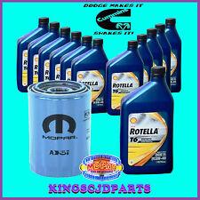Oil Filter & Rotella T6 Synthetic 5W40 Oil 5.9  6.7 Cummins Diesel Dodge Ram OEM
