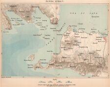 Sunda Strait.Java/Sumatra.Batavia(Jakarta).Indonesia.East Indies 1885 old map