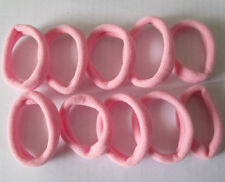 PINK 10pc Girls elastic hair ties band rope ponytail bracelets scrunchie FF8030