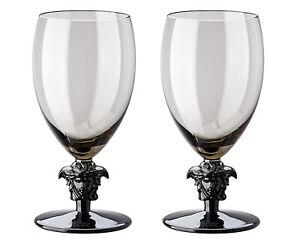 Versace Rosenthal Medusa Lumiere Haze 2nd Edition Set 2 Pcs White Wine Glasses