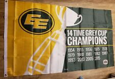 CFL Edmonton Eskimos 14 Time Grey Cup Champions Outdoor Car Auto Truck Flag 3x5