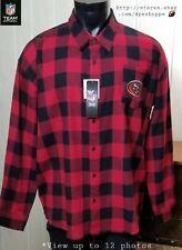 NEW NFL San Francisco 49ers Red Black Check Team Apparel Flannel Shirt Sz XL