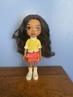 """2013  Mattel 9"""" Dora the Explorer Hard Plastic Doll w rooted hair, Dress & Shoes"""