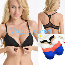 New Womens Push Up Bras Magnet Front Closure Wired Bralette Racer-back Lingerie