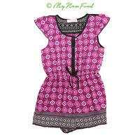 d9543dd4b8f2 Zoe   Rose Band Of Gypsies Girls Romper Size10 12 Flutter Sleeve Pink EUC  B66