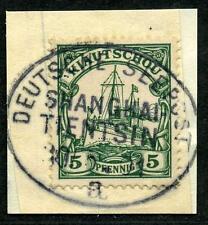 Kiautschou Mi 6  Briefstück  Seepost  Shanghai-Tientsin a