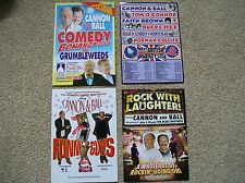 CANNON & BALL - 4 different Lovely colour tour flyers (Mint) great comedy