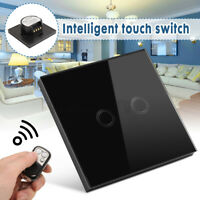 3Gang 3Way Smart Touch Light Switch Crystal Glass Panel +Remote Controller