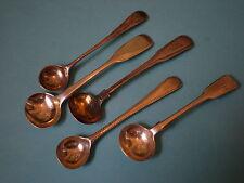 Cinque georgiano Antico Solid Argento cucchiai di sale, lotti OdL
