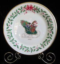 1991 1st in series Lenox Annual Holiday Christmas Plate sleigh nutcracker train