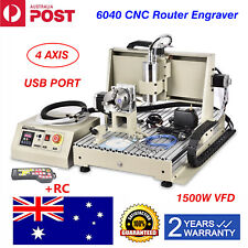 USB 4 Axis 1.5KW CNC 6040 Router Engraver 3D Metal Mill drill Machine+Handwheel