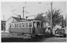 Tram No 17  Rhos on Sea ? postcard size photo on card D Tate