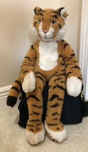 """RARE Steiff Lulac Dangling Tiger 6285/55 Made1982-1985 14"""" Sitting 19"""" overall"""