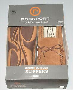 NEW Rockport Premium Indoor Outdoor Slipper/Loafer Light Brown Mens Size 12.5-13
