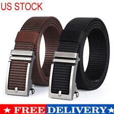 Casual Men Nylon Belt Military Ratchet Golf Work Belt Automatic Buckle for Jeans