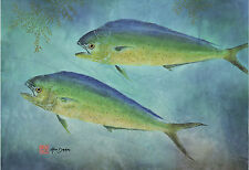Gyotaku Fish Print – Dolphin (Mai Mai)