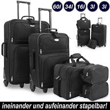 Kofferset Reisekoffer 5 Taschen Trolley Reise Koffer Set Tasche S M L XL schwarz