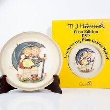 "Goebel M. J. Hummel Fist Edition 10.25"" Plate 1975 Stormy Weather Hum 280 W/ Box"