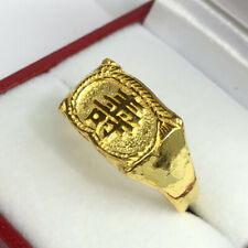 24K Solid Pure Gold Long Life Chinese Character  Ring. 9 Grams. Sz 11