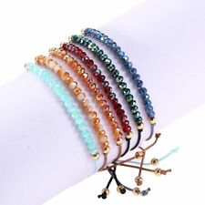 Fashion Crystal Beaded Handmade Bracelet Adjustable Friendship Bangle Jewelry
