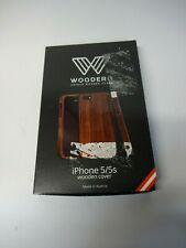 Woodero echtes Holz iPhone 5 5S Cover Nussholz Handyhülle Handycover